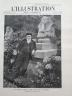 L' ILLUSTRATION 1908 N 3429 VICTORIEN SARDOU DANS SON PARC A MARLY